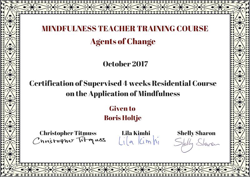 Zertifikat Mindfulness Teacher Training Course